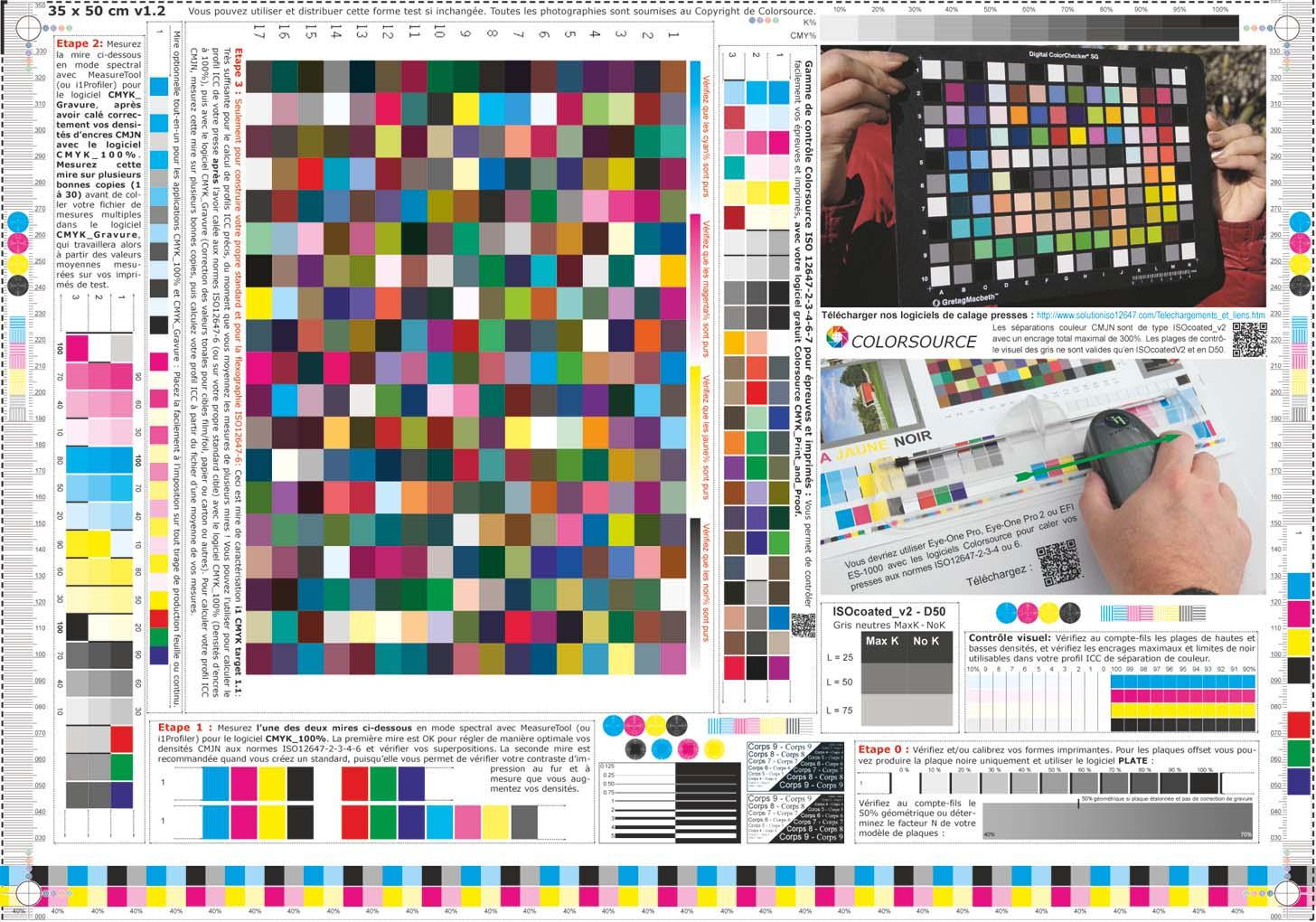 Formes Test CMJN Universelles Et Gratuites Colorsource